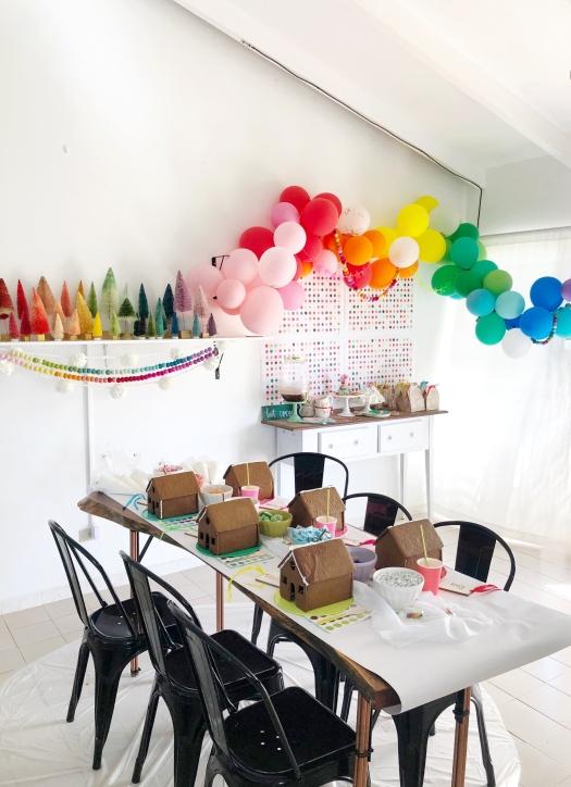 Cumpleaños temática arco iris