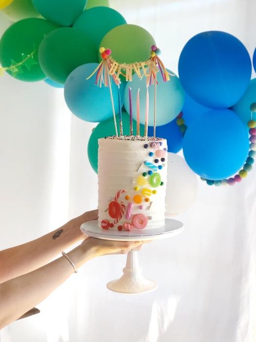 Idea tarta cumpleaños arco iris