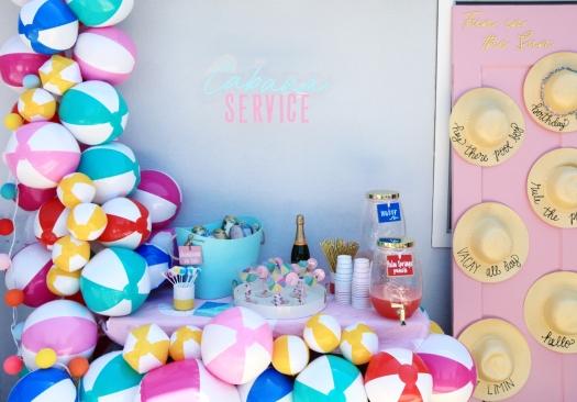 Palm Spring Beach Ball Party | Klos + Co